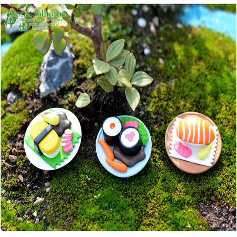 ZOCDOU 1 ชิ้นญี่ปุ่น Sushi Sashimi ปลาอาหารญี่ปุ่น Tokyo อาหารค่ำร้านอาหารชุด Samll รูปปั้น Figurine เครื่องประดับ Miniatures