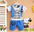 Wholesale new 2016,summer clothing for children,kids clothes,baby boy clothes,sport suit short sleeve tshirt+pants set