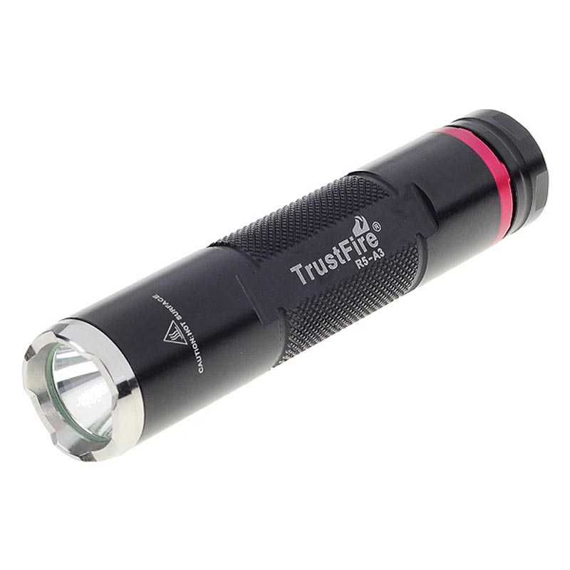 TrustFire R5-A3 3-Mode 230-Lumen Memory LED Flashlight with XP-G-R5 led bulb lamp torch lantern ultrafire m3 t60 3 mode 910 lumen white led flashlight with strap black 1 x 18650