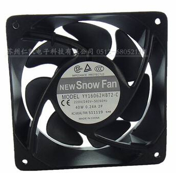 цена на Wholesale: SNOWFAN YY16062HBT2-C capacitive fan AC 220V 16062 dual ball bearing axial flow fa