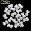 BlueZoo 100 pcs Branco Acrílico Decoração de Unhas Bonito Bowknot Bow Tie 3D Nail Art Tips Decoração de Unhas Frete Grátis