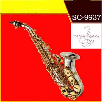 YANAGISAWA Curved Soprano Saxophone SC-9937 Plating nickel  Brass Sax Mouthpiece Patches Pads Reeds Bend Neck Free shipment