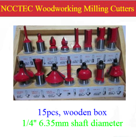 [15 pcs router bit set] woodworking milling cutters for wood router woodworking machine FREE shipping | YG8 carbide wooden box [15 pcs router bit set] woodworking milling cutters for wood router woodworking machine free shipping yg8 carbide wooden box