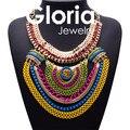 Роскошные моде металл цветной кулон ожерелья для женщин 2015 высокое качество горячей дизайн женские оптом ожерелья G150