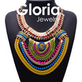 Declaração de Moda luxo metal colorido pingente colares para as mulheres 2015 de alta qualidade hot projeto mulheres colares atacado G150