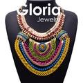 Declaración de Moda de lujo de color de metal collares pendientes para las mujeres 2015 diseño caliente de alta calidad de las mujeres al por mayor collares G150