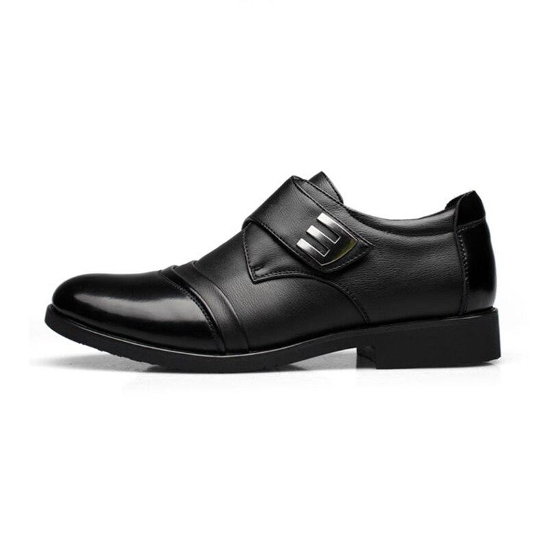 Rétro Rond Nous D'affaires 10 Chaussures Boucle Black Cuir En 6 Mens Casual Ceinture Oxfords Bout Homme coffe Robe Crochet wpqFf