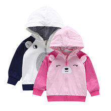 Toddler Baby Boys Clothes Dog Ears Long Sleeve Tops Hoodie Zip Warm Outfits Coat Clothes цена