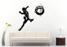 Man Football Player Kicking The Soccer Abstracting Vinyl Wall Decals Sport Game Athlete Playing Sticker  Q-61