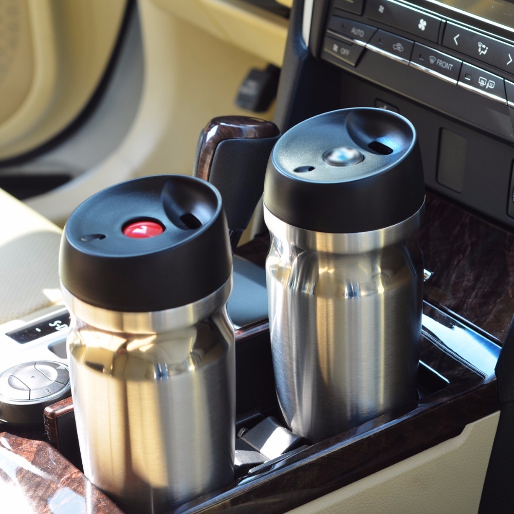 AQUARIUS Vacuum Insulated Travel Mug Double wall Stainless Steel Tumbler Sweat Free Coffee <font><b>Cup</b></font> Thermos Canteen Water Bottle