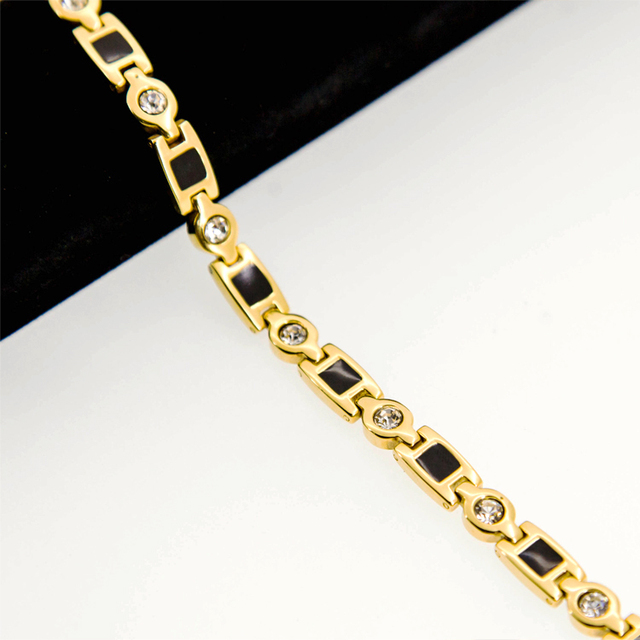 Fashion Jewelry 24K Gold Plated Pure Germanium 316L Steel Magnetic Necklace Health Necklace For Women Men  High Quality