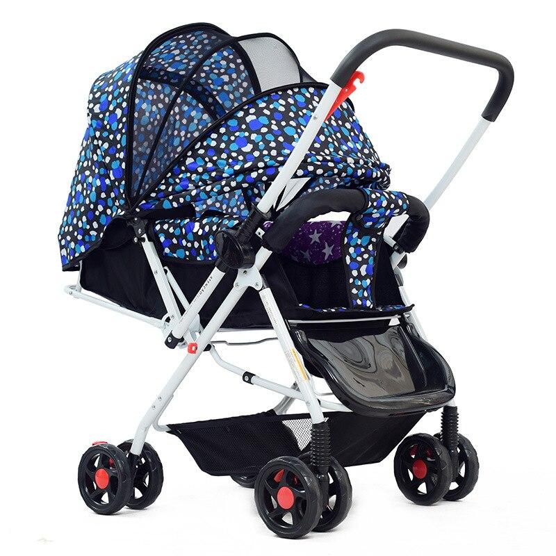 Летние Детские коляски с сеткой для новорожденных корзину зонтик автомобиль четыре колеса коляски могут сидеть лжи Детские коляски Covertible р