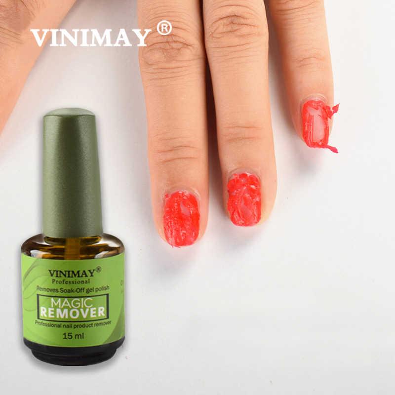 VINIMAY Gel de uñas removedor mágico remojo de Base mate capa superior Gel esmalte de uñas en Gel arte de uñas Primer laca salón de uñas