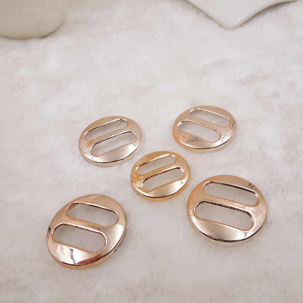 25mm,30pcs uv plated rose gold no fade ribbon buckles bow acessories Invitation Ribbon Slider Headband Hair Clip DIY
