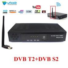 Full HD DVB T2 S2 Combo decodificador + receptor de WiFi satelital apoyo IKS Cccam Youtube Biss terrestres satélite Combo Iptv TV Box