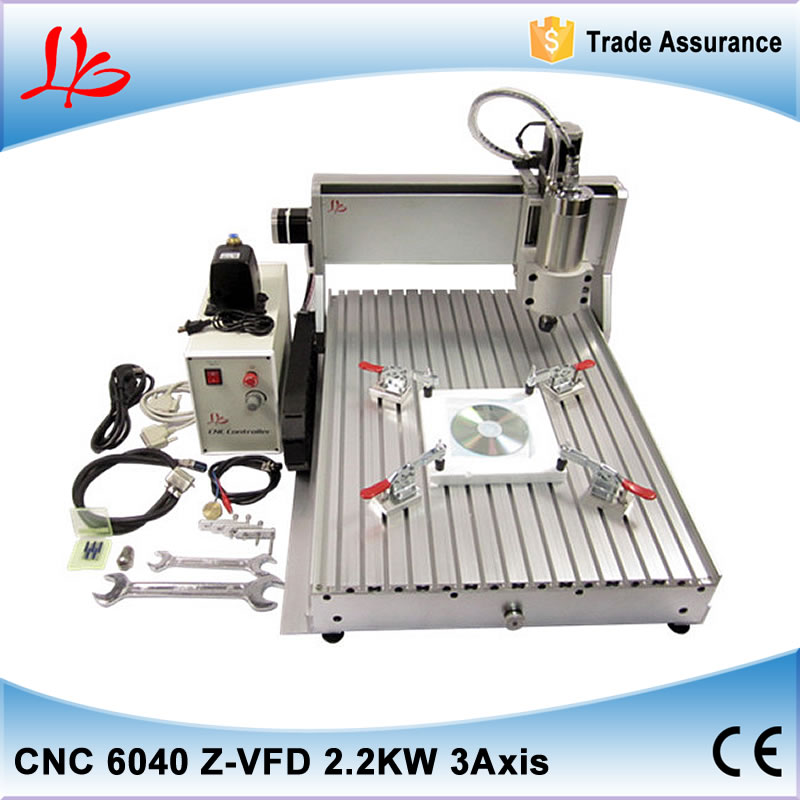 LY 6040Z-VFD2.2KW 3 axis high power CNC router with ball screw 2.2KW VFD water cooling spindle ship to Russia no tax 2 2kw 3 axis cnc router 6040 z vfd cnc milling machine with ball screw for wood stone aluminum bronze pcb russia free tax