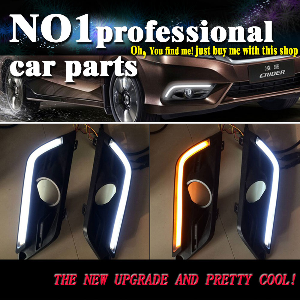 car styling 2013 2014 2015 For Honda Crider LED DRL led fog lamps daytime running light High brightness guide LED DRL for lexus rx gyl1 ggl15 agl10 450h awd 350 awd 2008 2013 car styling led fog lights high brightness fog lamps 1set