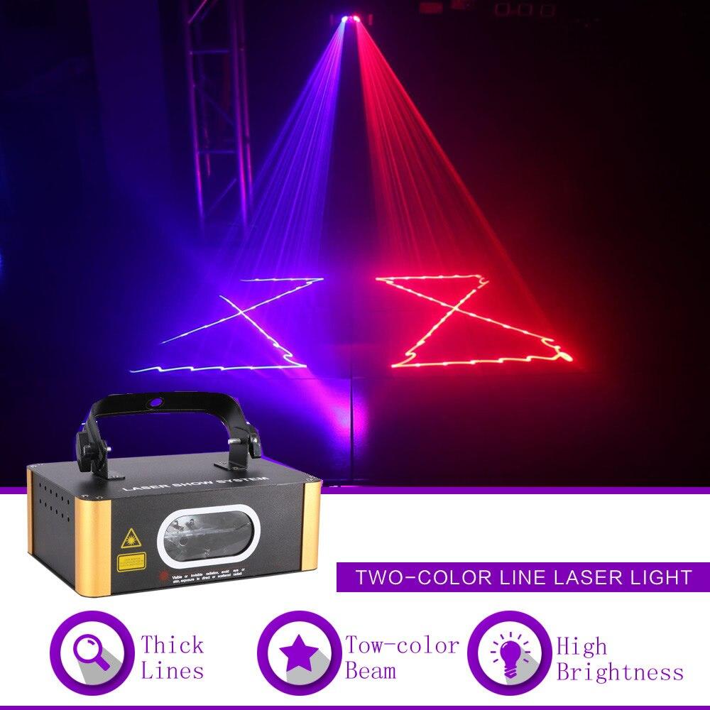 Sharelife Mini 1 Len Rouge Bleu RB Faisceau DMX projecteur laser Lumière Maison Concert Partie Spectacle Professionnel Scène Effet DJ Éclairage 504RB