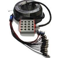 NMBJCKO 16 Channe кабели для мультикора с 3 булавки XLR кабель для мужчин гнездо Расширенный аудио змея кабель