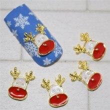 10psc New CCute elk 3D Nail Art Decorations,Alloy Nail Charms,Nails Rhinestones Nail Supplies #245