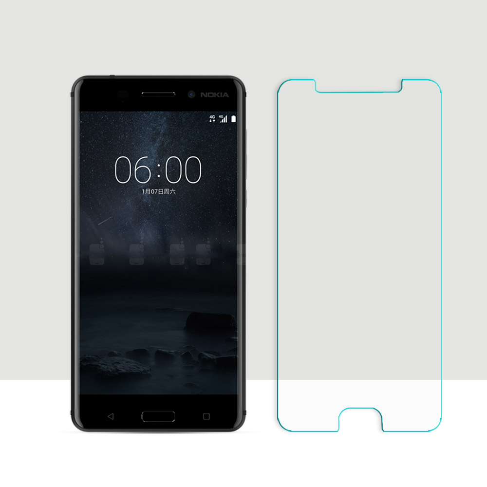 2.5D Curved Edge Screen For Nokia 6 Protection Film For Nokia 6 Tempered Glass Front Film Anti-Scratch 0.26mm HD Film 2pcspack
