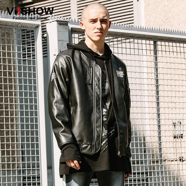 VIISHOW Pu Men Motorcycle leather jacket mens jaqueta de couro masculina Windbreak Mens Leather Jackets And Coats Plus Size 3XL
