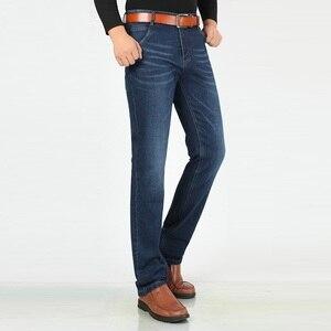 Image 4 - Siyah kot erkekler streç marka Denim pantolon erkek pantolon Cowboys elastik ekstra uzun kot artı boyutu mavi büyük uzun boylu erkek giyim