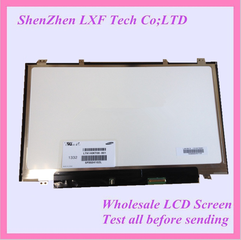 Original NEW 14'' Laptop LCD LED Screen LTN140KT08-801 1600*900 FOR Samsung NP700Z3A S03US laptop rouge ecstasy cc помада 202 milano
