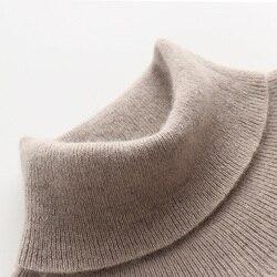 Suéteres de hombre 100% Pashmina punto pulóveres 2019 nueva llegada 8 colores cuello alto cachemira pura jerseys invierno ropa de abrigo Tops