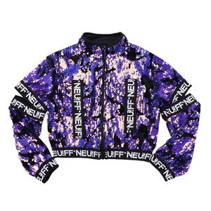 Image 5 - Girls Sequins Hip hop Jazz Stage Dance Costume Street  Dancing Crop Tops Pants Outfits Kids Dancewear Purple