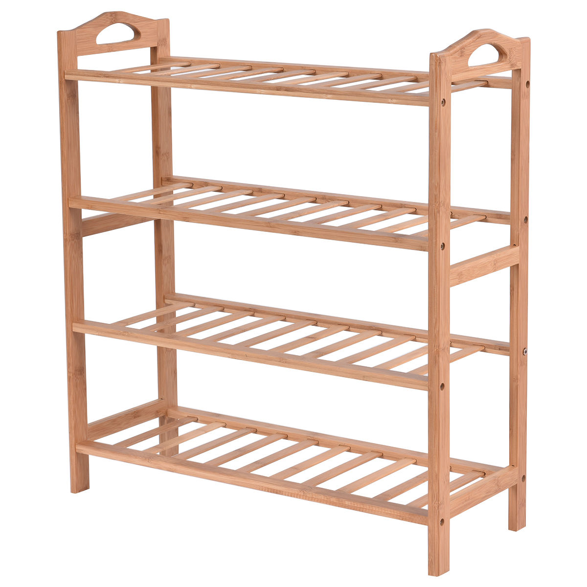 Organizer, Shoe, Storage, Modern, Shelf, Bamboo