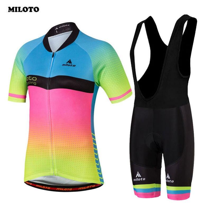 ФОТО MILOTO Team High Quality Women Bike Bicycle Comfortable Jersey Ropa Ciclismo Bike Clothing Pad Bib Short Suits Cycling Wear