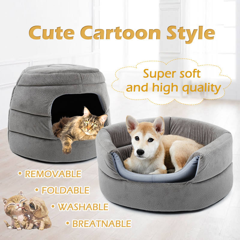 New fashion cats and kennel 2 in 1 honeycomb hut pet puppy foldable cat ferry high quality anti-gray slippery waterproof bottom ...