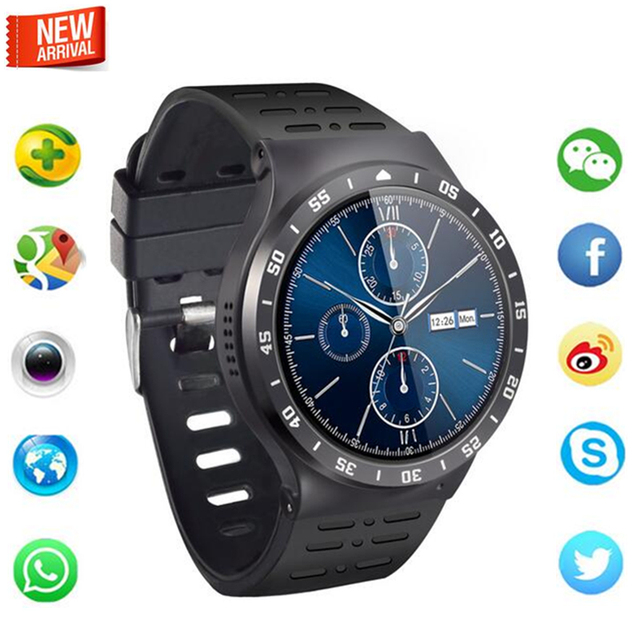 2017 Новый лучший Smart watch Android 5.1 512 RAM 8 ГБ ROM Quad ядро Поддержка 3 Г GPS Wi-Fi Heart rate monitor Для IOS Samsung gear s3
