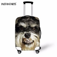 INSTANTARTS Funny Dog Schnauzer Print Thicken Luggage Protective Covers Apply To 18 30 Inch Trolley Suitcase