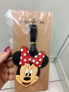 Image 4 - 2018 Mala Travel Accessories Luggage Tag For Micky Minie Cartoon Silica Gel Suitcase Id Address Holder Baggage Boarding