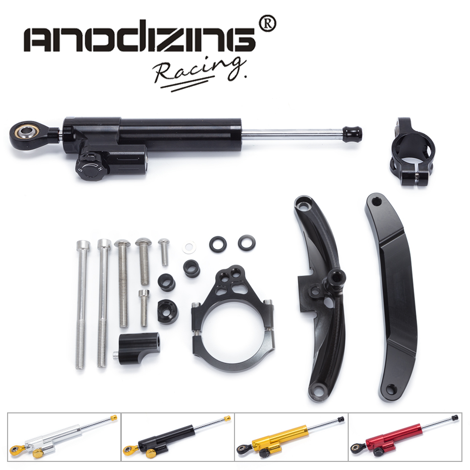 FREE SHIPPING For Yamaha FZ1 FAZER 2006-2015 Motorcycle Aluminium Steering Stabilizer Damper Mounting Bracket Kit 1 piece free shipping anodizing aluminium amplifiers black wall mounted distribution case 80x234x250mm