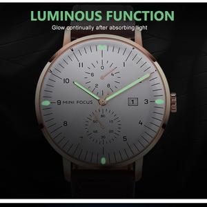 Image 4 - MINI FOCUS Mens Watches Top Brand Luxury Quartz Watch Men Calendar Bussiness Leather relogio masculino Waterproof reloj hombre