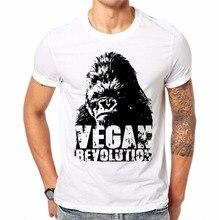 Trendy Melon New Arrival Casual T shirt Men Vegan Revolution Funny White Cotton Tops Short Sleeve Tees Shirt Hipster JV02