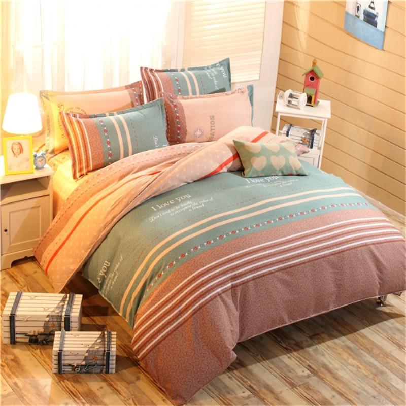 Hot Cheap Grass Printed Comforter White Plain Bedlinen