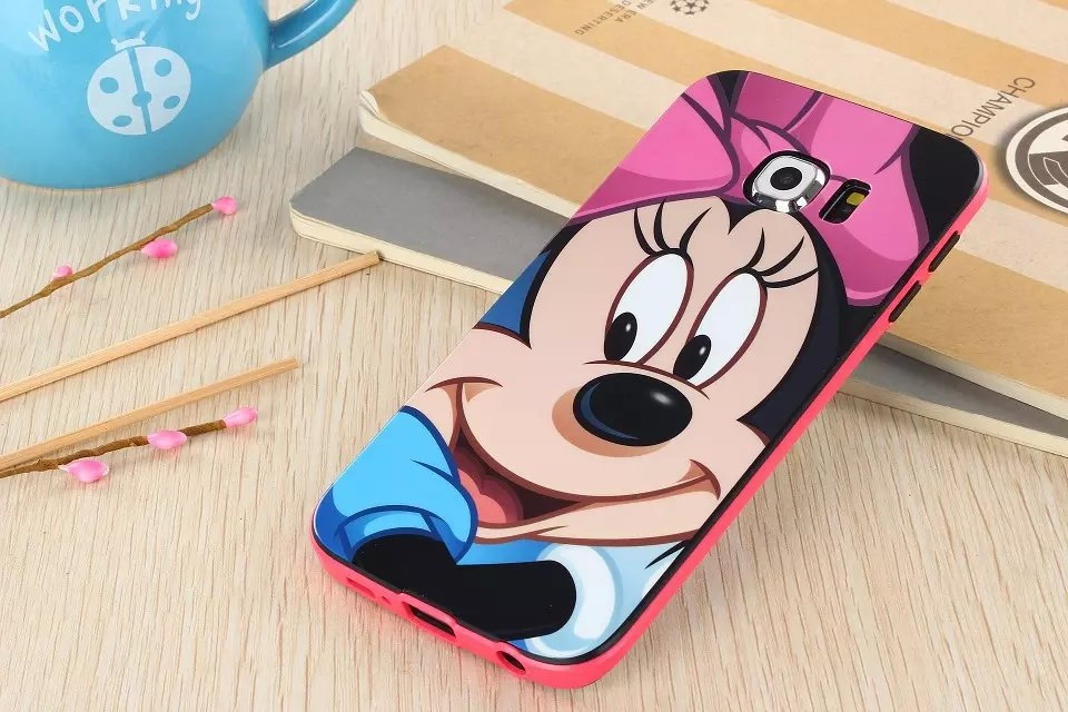 samsung galaxy s6 phone cases for girls. 16 patterns cute cartoon silicone back cover case for samsung galaxy s6 edge phone bag cases girls