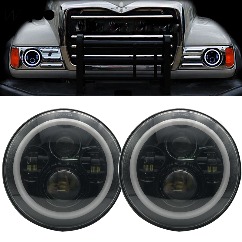 Business, Office & Industrial Agricultural Vehicles Pair Of Grey Tractor Headlights Headlamps Outside Grille Fit