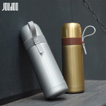 JOUDOO 350ML Thermos Bottle With Cup Lid Stainless Steel Vacuum Flasks For Tea Insulation Thermo Mug Business thermocup 35