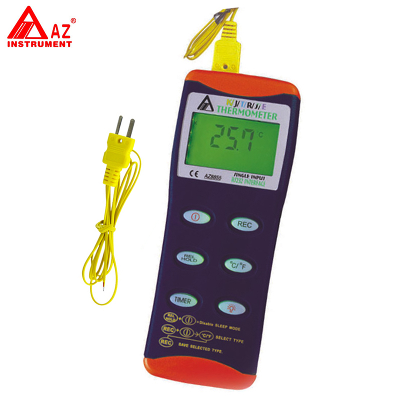 AZ-8855 Digital K/J/T/R/S/E RS232 Thermocouple Thermometer Meter