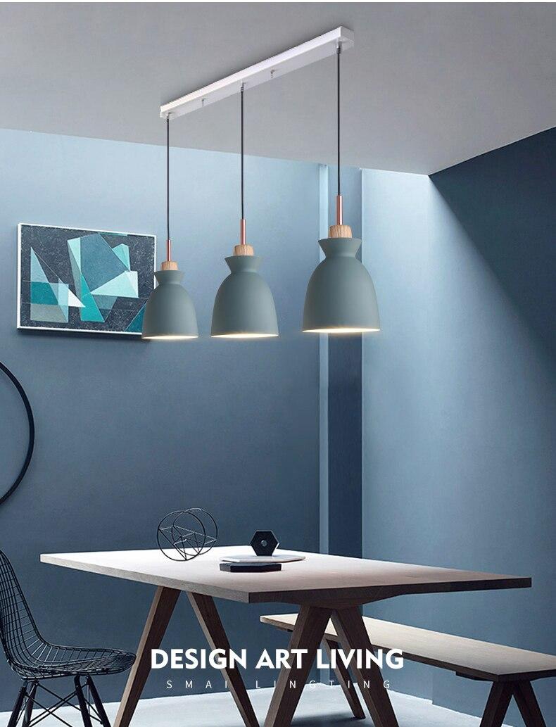 Set von 3 Esstisch Lampe Lichter Makronen Bunte LED Moderne Anhänger ...