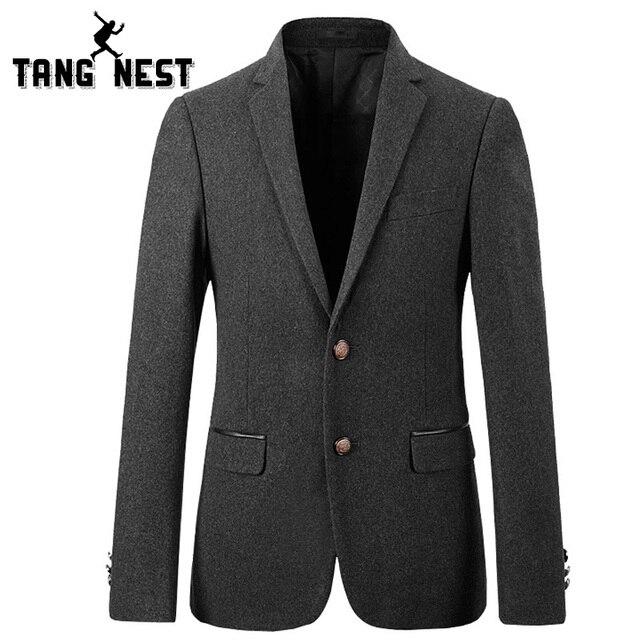 Tangnest casual solo pecho chaqueta de los hombres 2017 nueva llegada de los hombres de negocios blazer buena calidad moda blazer masculino mwx378