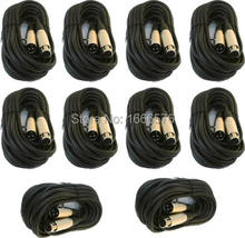 KL High Quality 10 lot 25ft xlr male female 3pin MIC Shielded Cable microphone cord pack(China)