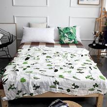 Oversized 120*150/150*200 cm vier lagen katoen/bamboevezel mousseline baby deken inbakeren wrap voor pasgeboren inbakeren dekens