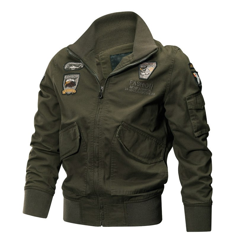 Pilotes Printemps Manteau Hommes Hiver Militaire Black Green Veste Type 4xl Mince Force Jaqueta khaki Cargo army Vestes Armée Air Masculina Coton q0BBI1Pw
