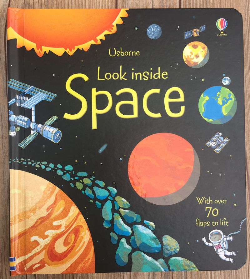 Britain English 3D Usborne Look Inside Space Picture Book Education Kids Child With Over 70 Flaps To Lift Hard Cover